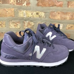 New Balance 574 Classic Sneaker Purple w/ Sequins